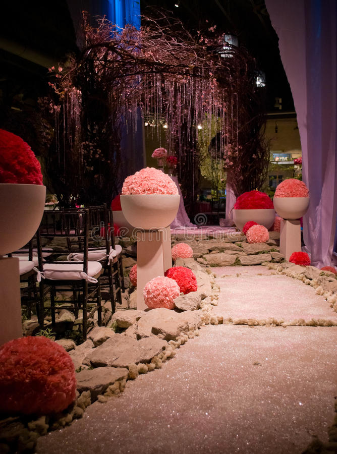 Pathway Flower Show stock photos