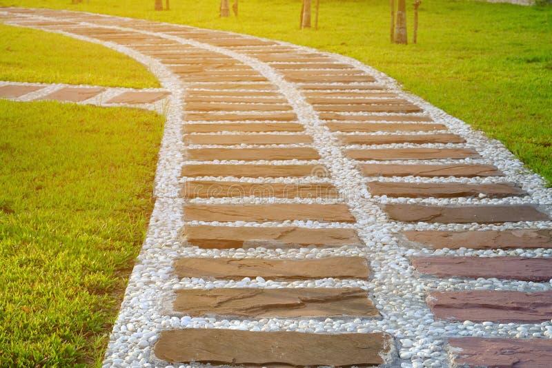 Pathway In Gardengreen Lawns With Bricks Pathwaysgarden Landscape