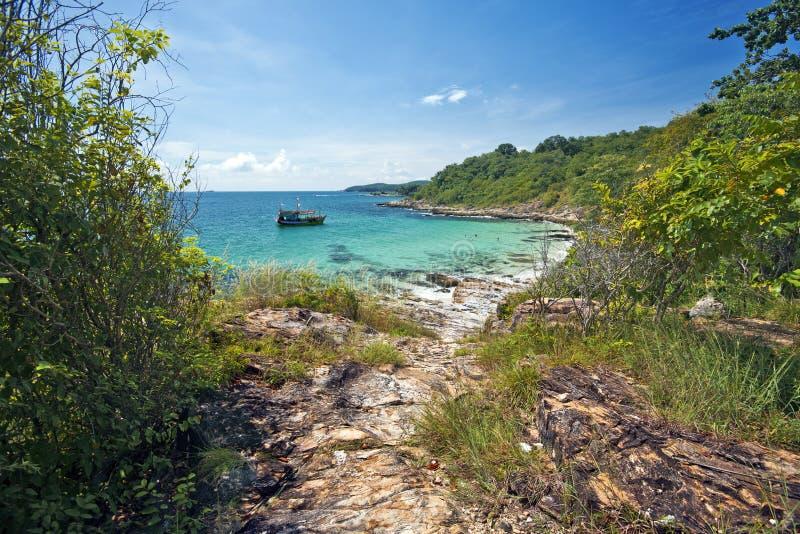 Nine Palm Bungalow Awas Beach Alibaug Maharashtra: Pathway To Tropical Beach Stock Photo. Image Of Concept