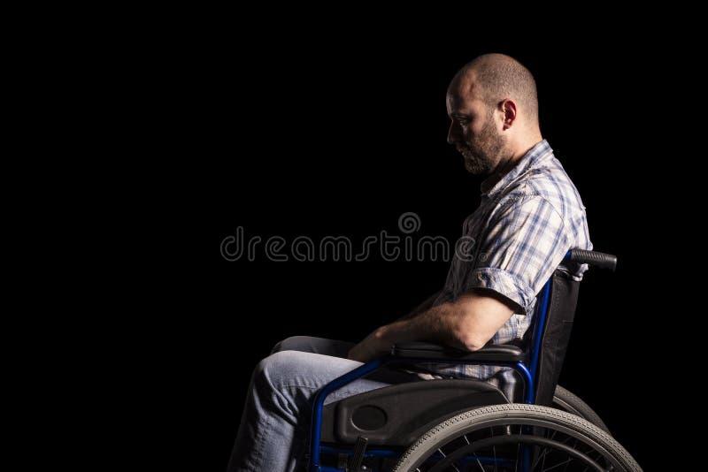 Patiënt op wheelschair stock afbeelding
