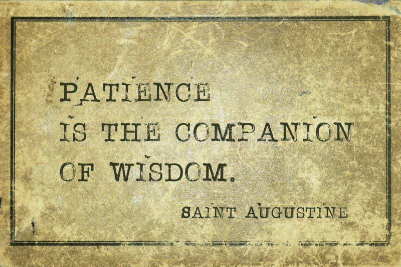Patiens är St Augustine royaltyfri bild