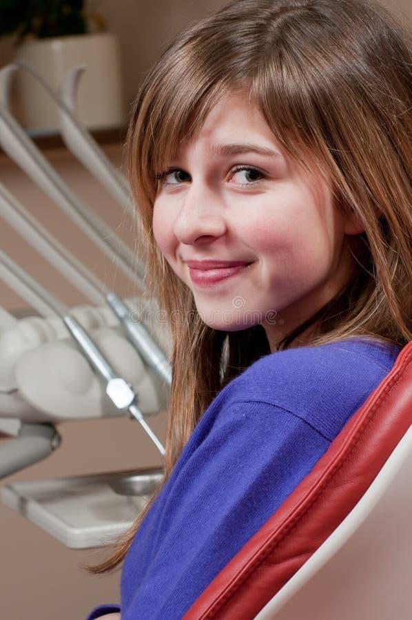 Patient à la clinique dentaire image libre de droits