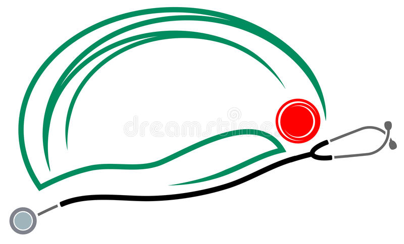 Patient. Isolated abstract patient logo design stock illustration