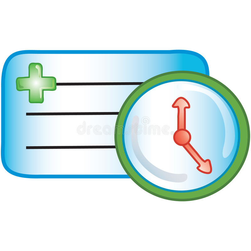 Patient appointment icon stock illustration