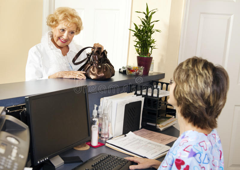 Download Patient Checks Out stock photo. Image of healthcare, elderly - 13496030
