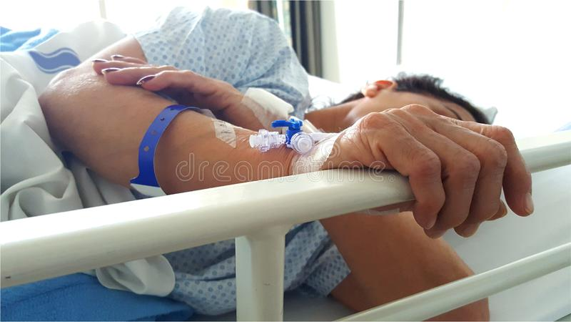 Patient dans l'hôpital photo stock