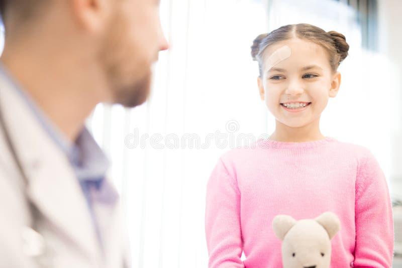 Patient heureux photo stock