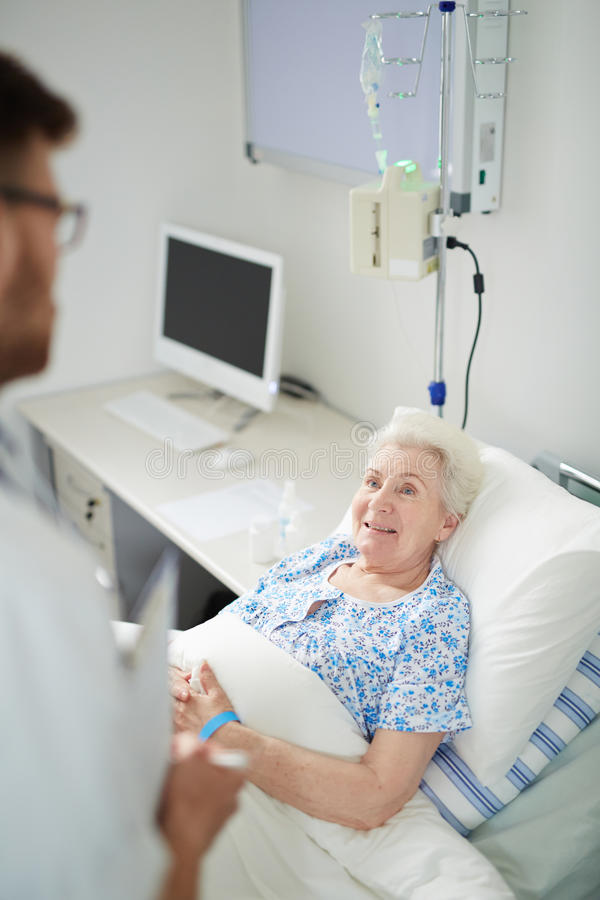 Patient heureux photographie stock