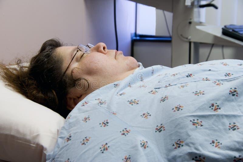 Patient hospitalisé photographie stock libre de droits