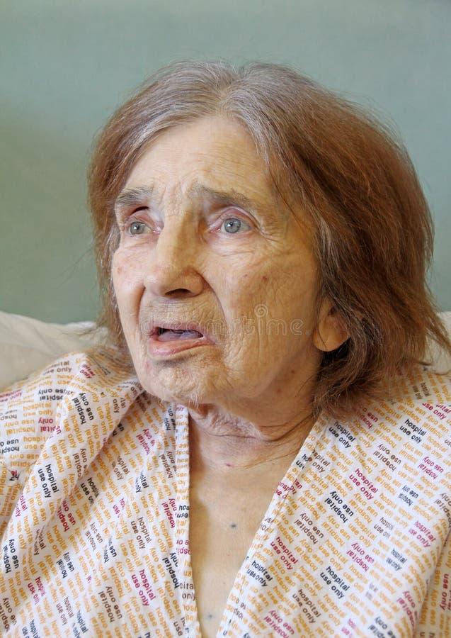 Patient hospitalisé féminin photos libres de droits
