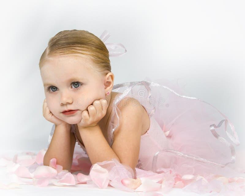 Patient Little Ballerina stock photo