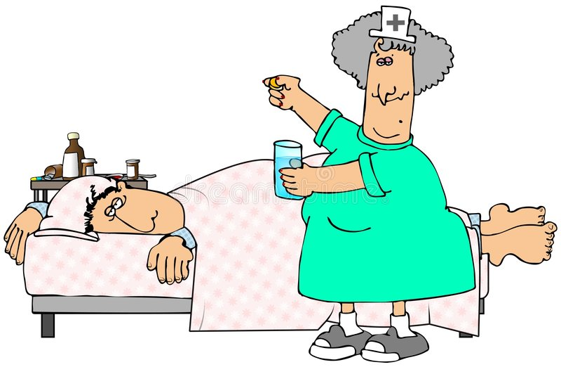 Patient malade illustration libre de droits
