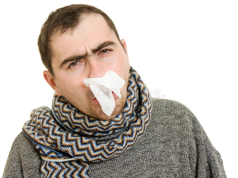 Download A Patient Man With A Runny Nose Stock Image - Image: 22994781
