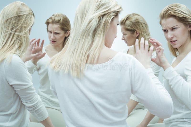 Patient med mentalsjukdom fotografering för bildbyråer