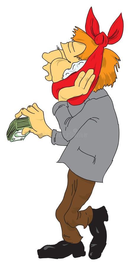 Patient mit dem Geld vektor abbildung