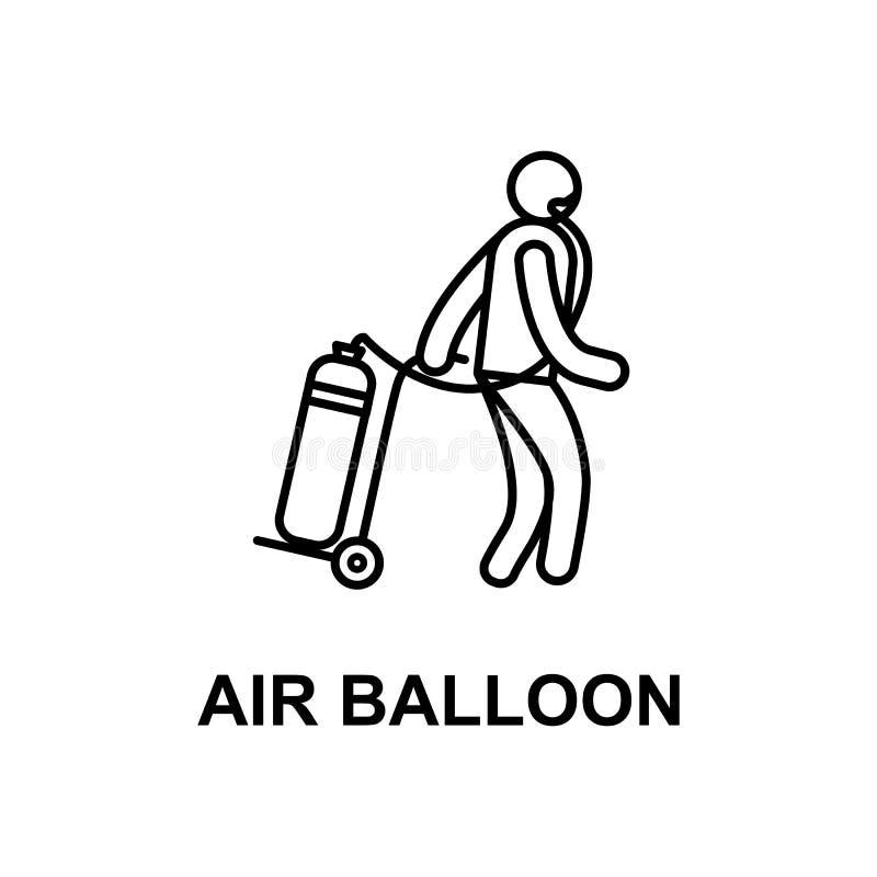 Patient mit Luftballonikone Element der Behandlung mit Namen für bewegliche Konzept und Netz apps Dünne Linie Patient mit Luftbal stock abbildung