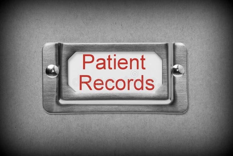 Patient notiert Fach-Datei lizenzfreies stockbild