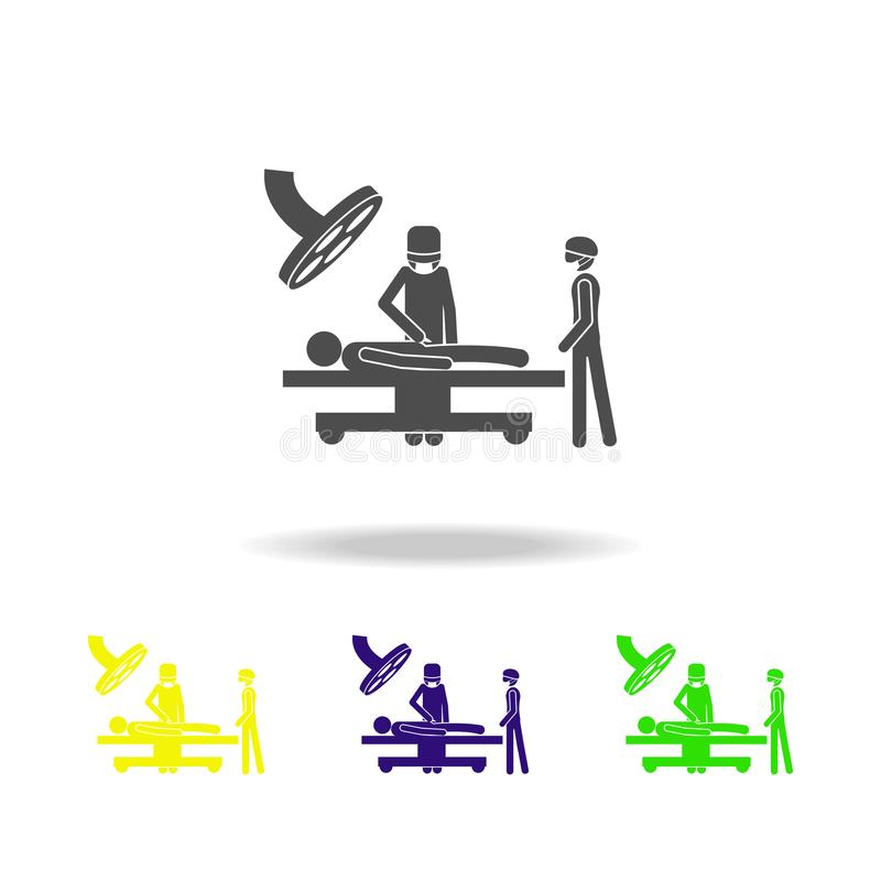 Patient in the operating room icon. Elements of Patients in the hospital icon. Premium quality graphic design. Signs, outline symb. Ols collection icon for vector illustration