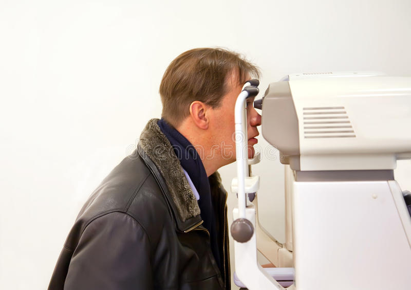 Patient At Ophthalmologist Royalty Free Stock Photos