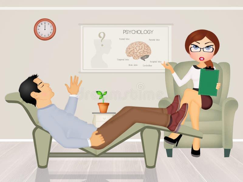 Patient parlant au psychologue illustration libre de droits