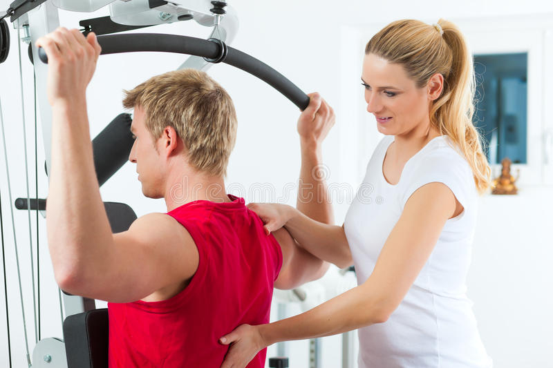 Patient at the physiotherapy stock photography