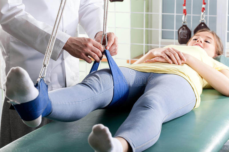 Patient at physiotherapy stock images