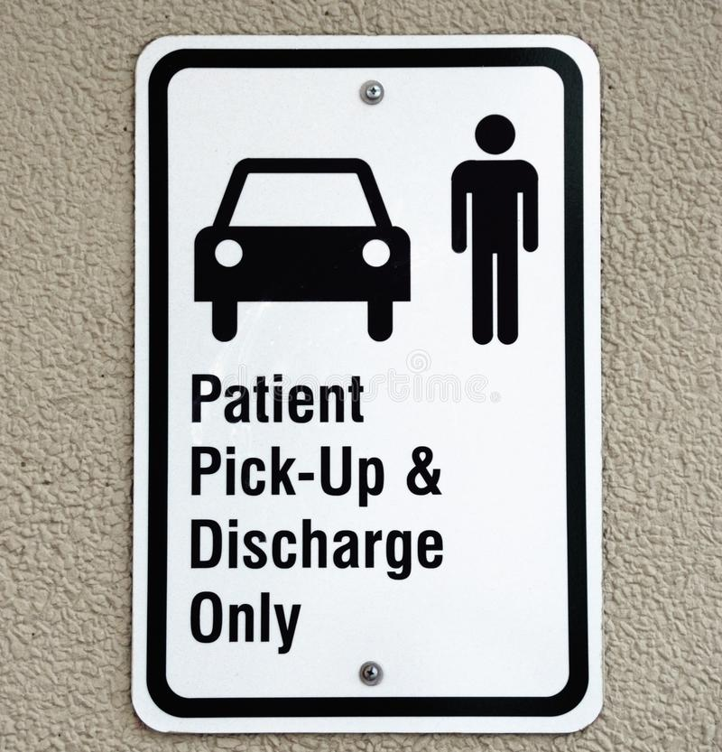 Patient Pick-up Sign Stock Photography