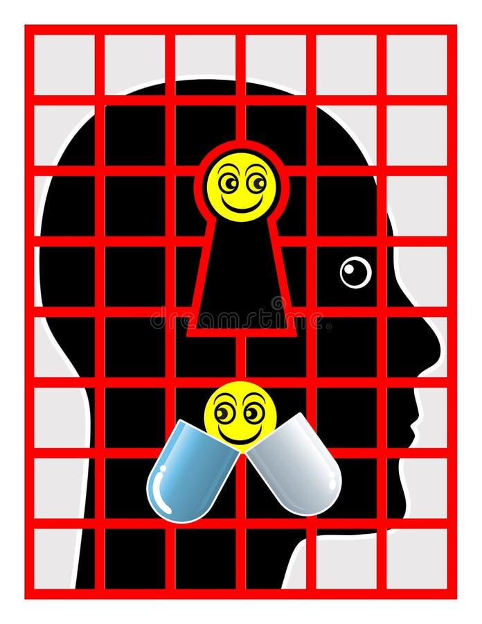 Patient psychiatrique illustration de vecteur