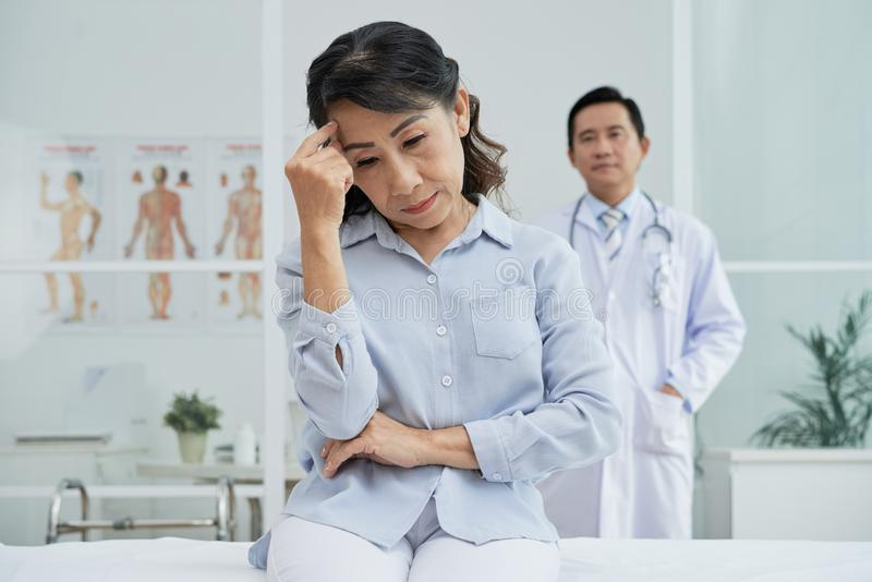 Patient Receiving Bad News stock photography