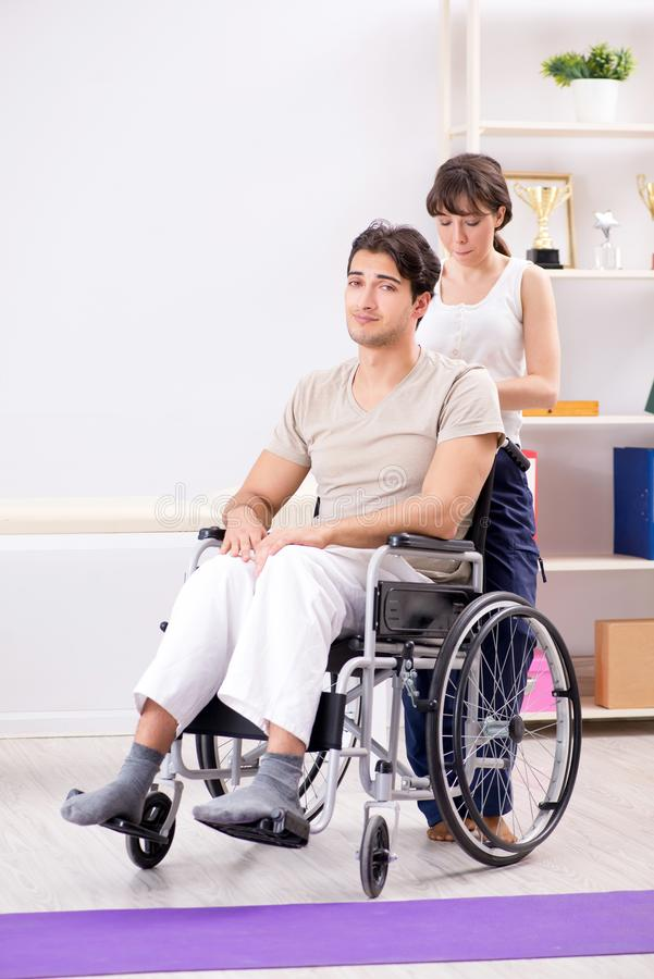 The patient recovering in hospital after injury trauma. Patient recovering in hospital after injury trauma stock image