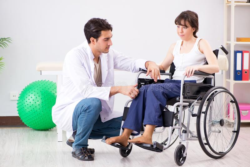 The patient recovering in hospital after injury trauma. Patient recovering in hospital after injury trauma royalty free stock image