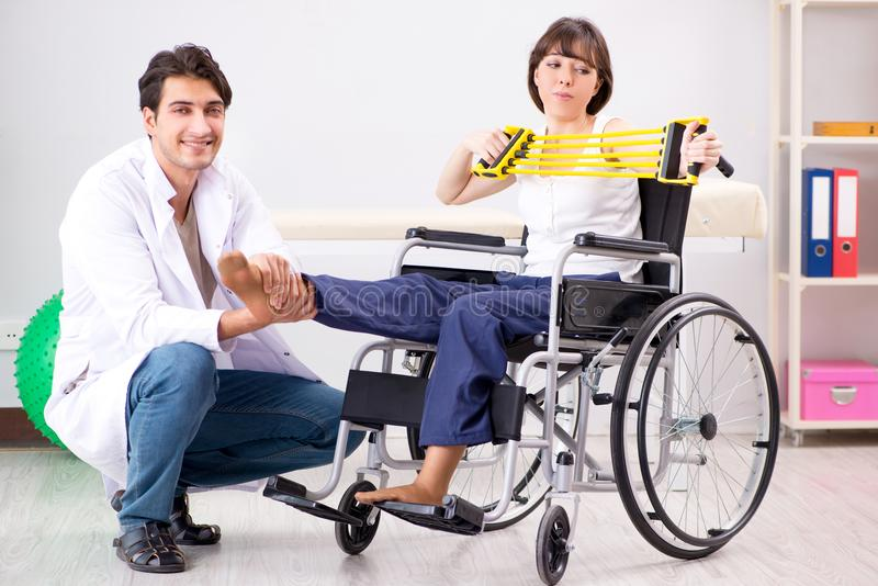The patient recovering in hospital after injury trauma. Patient recovering in hospital after injury trauma royalty free stock photos