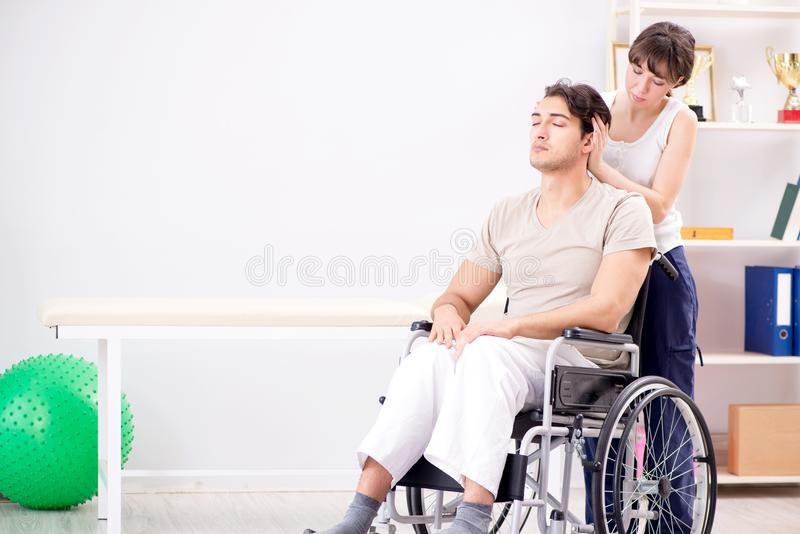 The patient recovering in hospital after injury trauma. Patient recovering in hospital after injury trauma stock photo