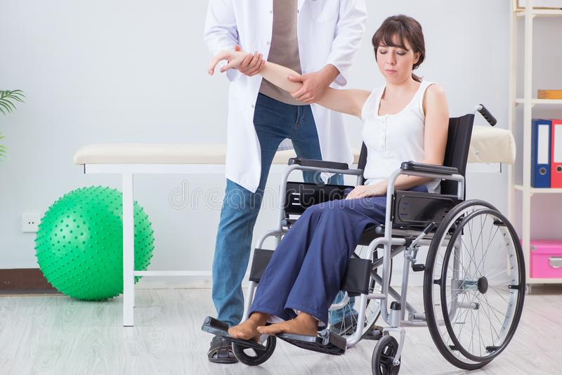 The patient recovering in hospital after injury trauma. Patient recovering in hospital after injury trauma stock photos