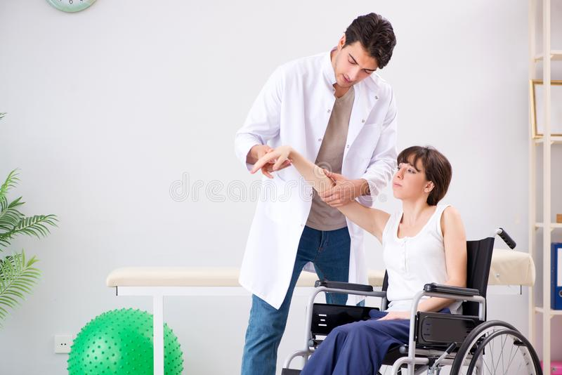 The patient recovering in hospital after injury trauma. Patient recovering in hospital after injury trauma royalty free stock images