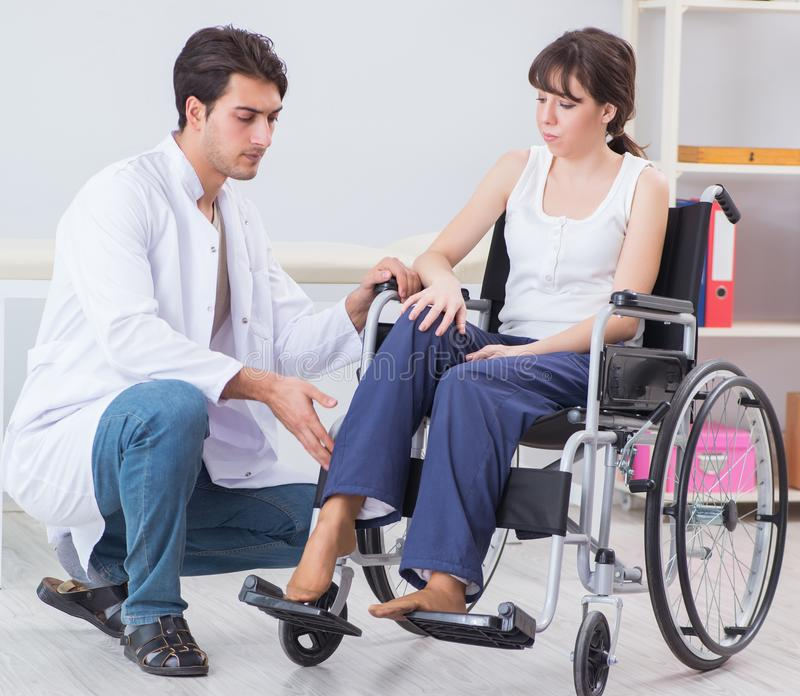 Patient recovering in hospital after injury trauma. The patient recovering in hospital after injury trauma stock photo