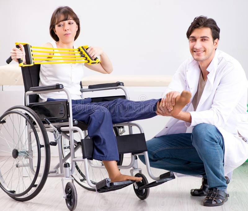 Patient recovering in hospital after injury trauma. The patient recovering in hospital after injury trauma stock images