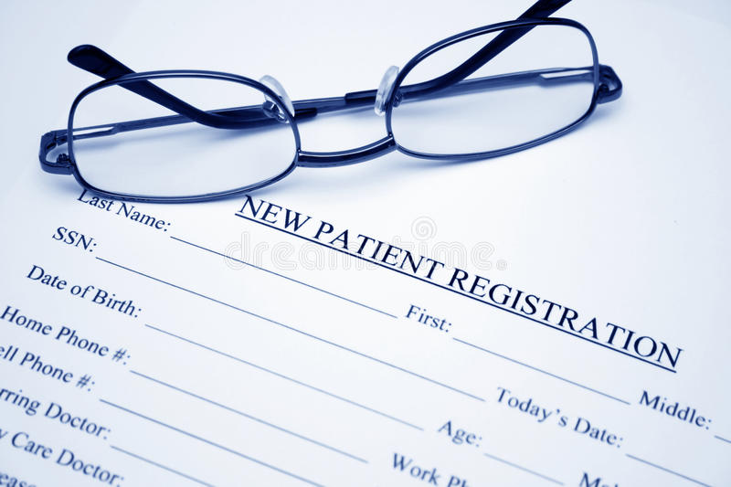 Patient registration royalty free stock images