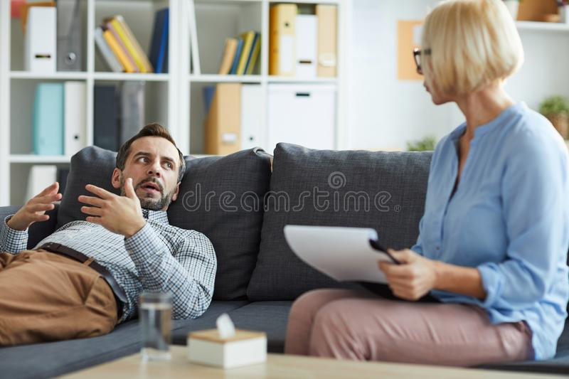 Patient talking royalty free stock photo