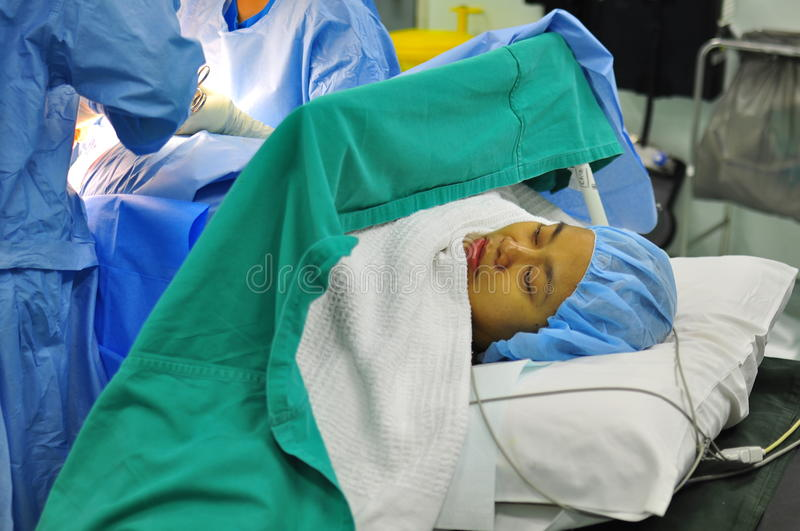 Patient Undergoing Operation Stock Photography