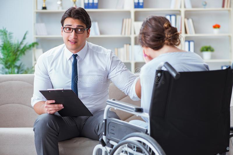Patient visiting psychotherapist to deal with consequences of tr. Auma stock photos