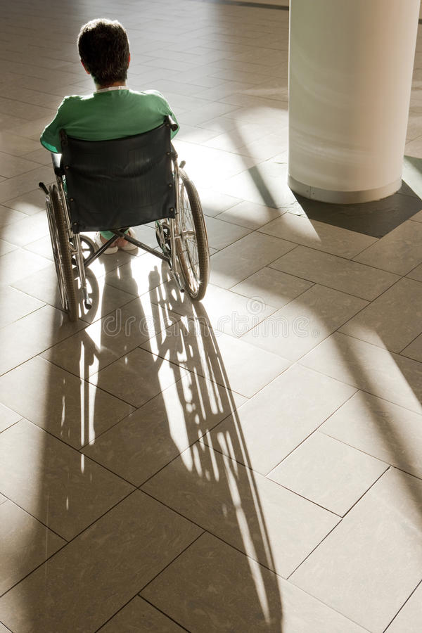 Patient in wheelchair royalty free stock photo