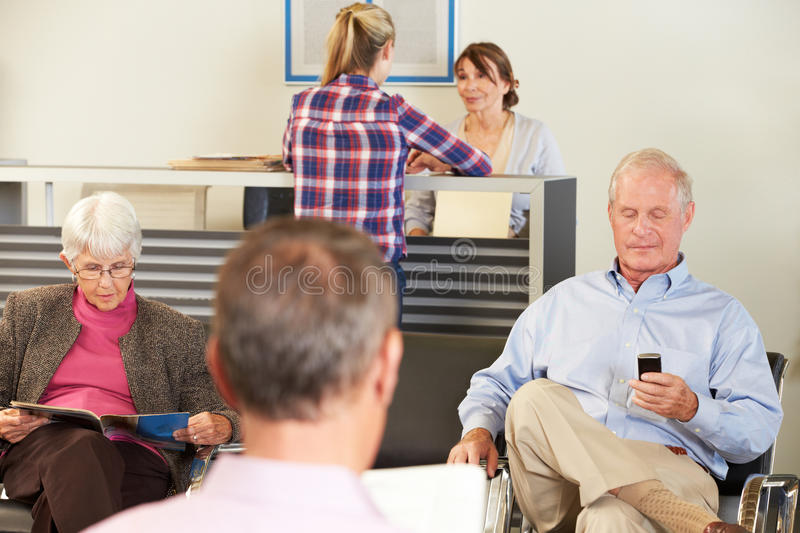 Download Patients In Doctor's Waiting Room Stock Image - Image: 28179815