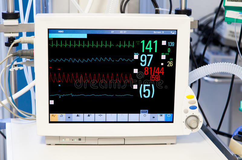 Download Patients Monitor In Intensive Care Unit Royalty Free Stock Photo - Image: 34165865