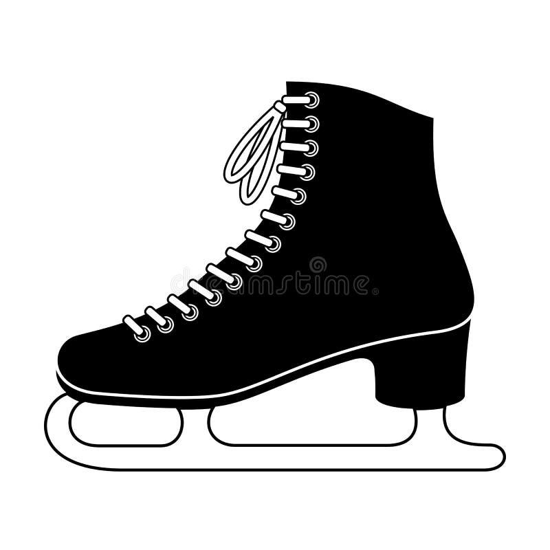 Patim de gelo ilustração royalty free