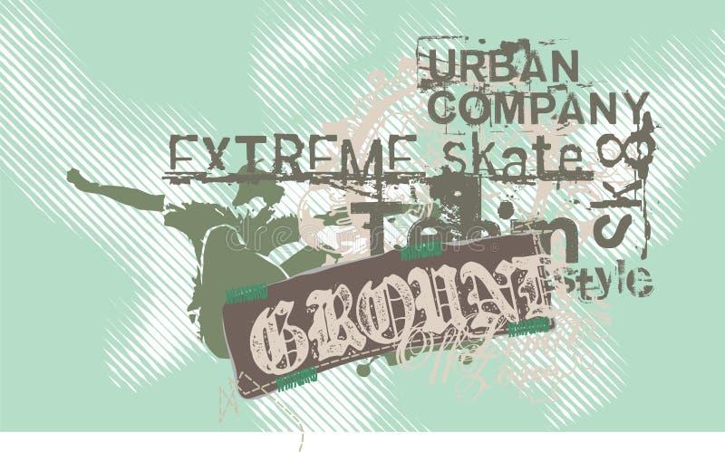 patin extrême illustration stock