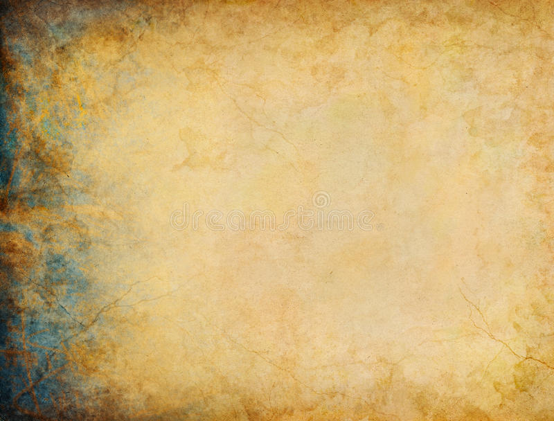 Patina Grunge Margin. A vintage grunge background with patina-like colors and textures on the left side margin