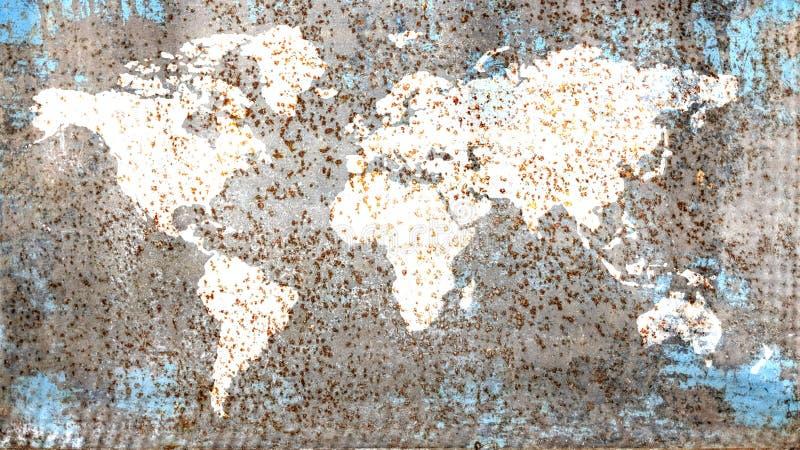 Patina world map stock photos