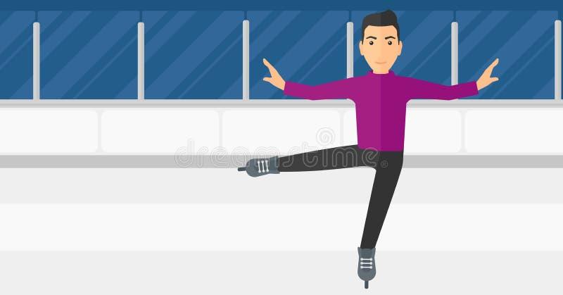 Patinador artística masculino ilustração royalty free