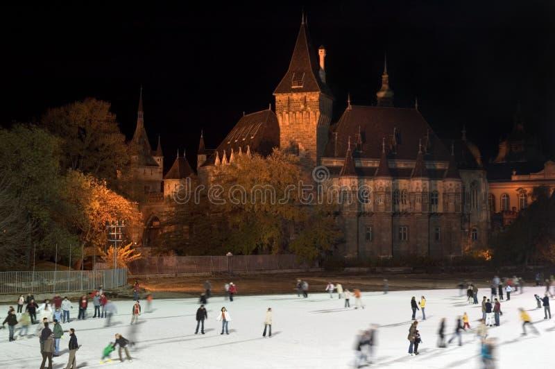 Patinage de glace à Budapest photographie stock